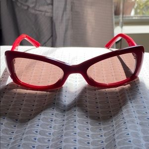 Fendi red sunglasses